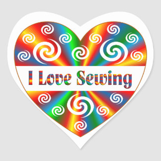 I Love Sewing Heart Sticker