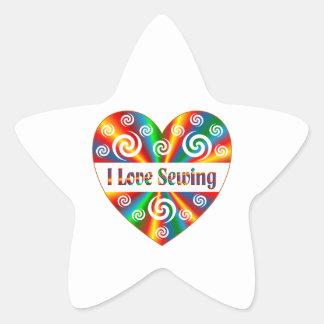I Love Sewing Star Sticker