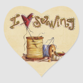I love sewing sticker