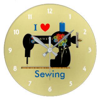 I Love Sewing Vintage Sewing Machine Wallclocks