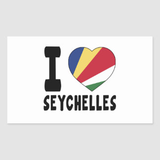 I Love Seychelles Sticker