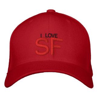 I LOVE SF EMBROIDERED BASEBALL CAPS