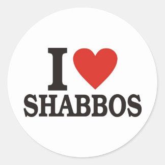 I love Shabbos Classic Round Sticker