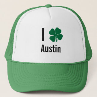I love (shamrock) Austin St Patricks Day Trucker Hat