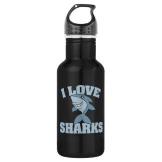 I love sharks 532 ml water bottle