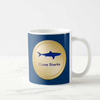 I Love Sharks Drink Mug