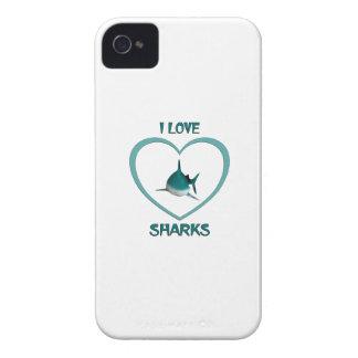I Love Sharks iPhone 4 Case-Mate Case