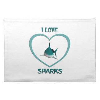 I Love Sharks Placemat