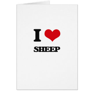 I love Sheep Card