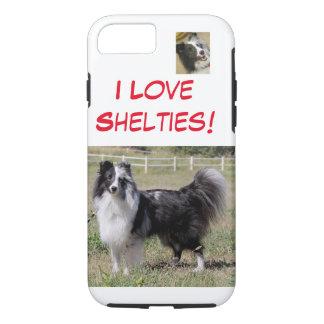 I Love Shelties - bi blue, split faced Shelti- iPhone 7 Case