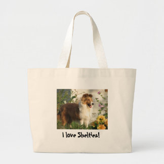 I love Shelties tote bag