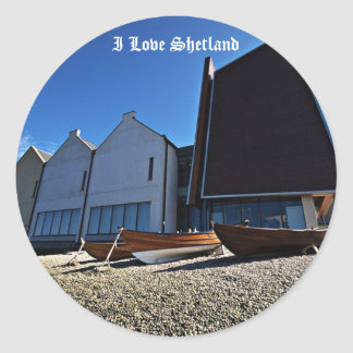 I Love Shetland Classic Round Sticker