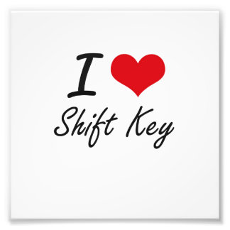 I Love Shift Key Photograph