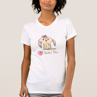 I Love Shih Tzu Hand Illustrated Doggie Doodle T-Shirt