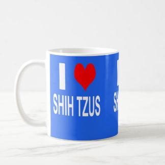 I Love Shih tzus Mug, Shihtzu Coffee Mug