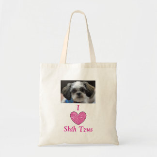 I love shih tzus tote bag