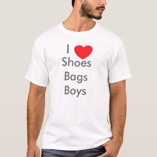 I love shoes bags boys T-Shirt