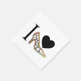 I love shoes paper napkins