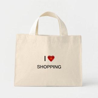I Love Shopping Canvas Bag