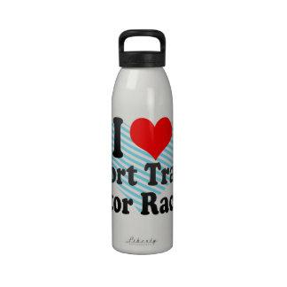 I love Short Track Motor Racing Drinking Bottles