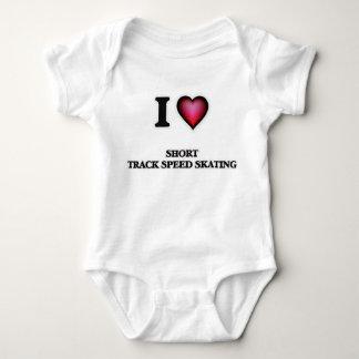 I Love Short Track Speed Skating Baby Bodysuit