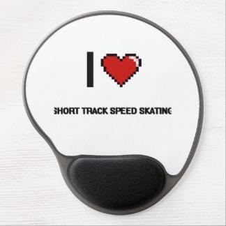 I Love Short Track Speed Skating Digital Retro Des Gel Mouse Pad