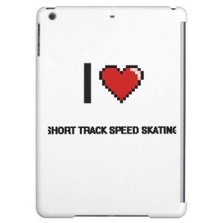 I Love Short Track Speed Skating Digital Retro Des iPad Air Cases