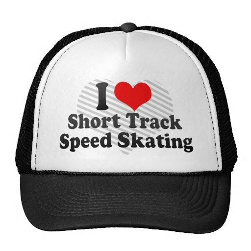 I love Short Track Speed Skating Mesh Hats