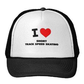 I Love Short Track Speed Skating Mesh Hat