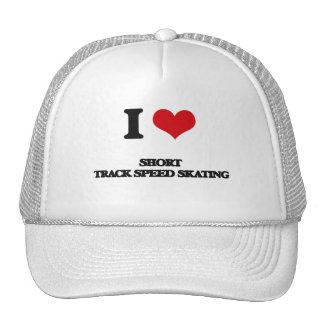 I Love Short Track Speed Skating Hat