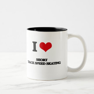 I Love Short Track Speed Skating Coffee Mug