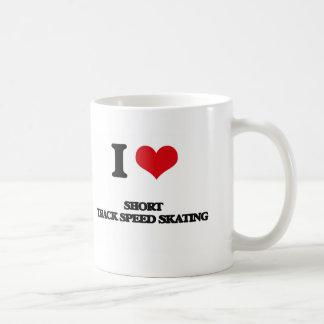I Love Short Track Speed Skating Coffee Mugs