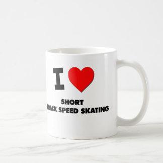 I Love Short Track Speed Skating Mugs