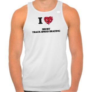 I Love Short Track Speed Skating T-shirt