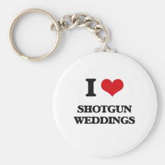 I Love Shotgun Weddings Keychain