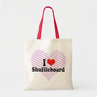 I Love Shuffleboard Budget Tote Bag