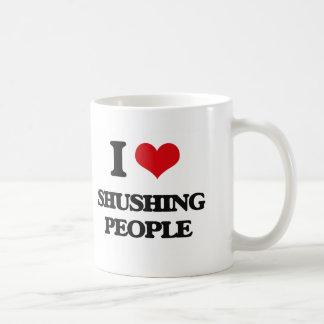 I Love Shushing People Coffee Mug