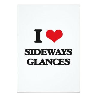 "I Love Sideways Glances 5"" X 7"" Invitation Card"