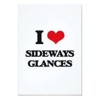 "I Love Sideways Glances 3.5"" X 5"" Invitation Card"