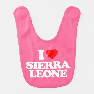 I LOVE SIERRA LEONE BABY BIBS