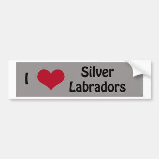 I love Silver Labradors Bumper Sticker