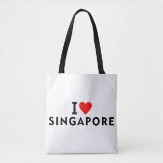I love Singapore country like heart travel tourism Tote Bag