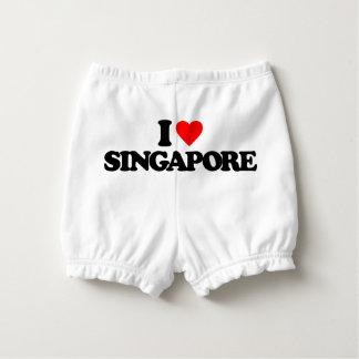 I LOVE SINGAPORE DIAPER COVER