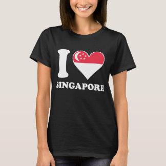 I Love Singapore Singaporean Flag Heart T-Shirt