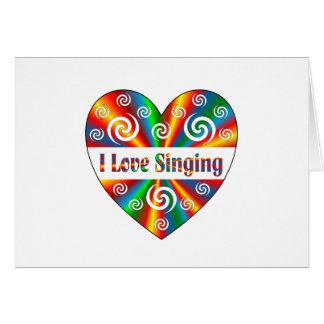 I Love Singing Card