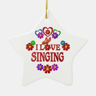 I Love Singing Ceramic Star Ornament