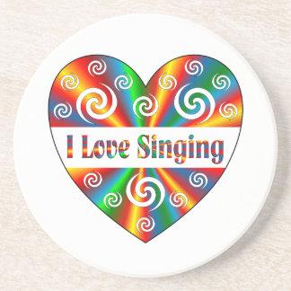 I Love Singing Drink Coaster