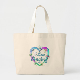 I Love Singing Large Tote Bag