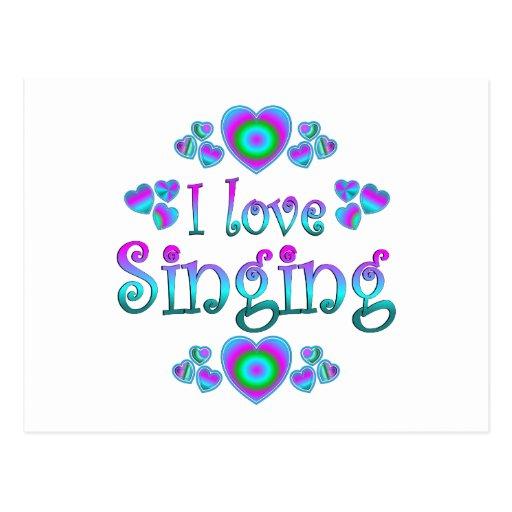 I Love Singing Postcard