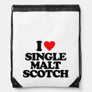 I LOVE SINGLE MALT SCOTCH CINCH BAGS